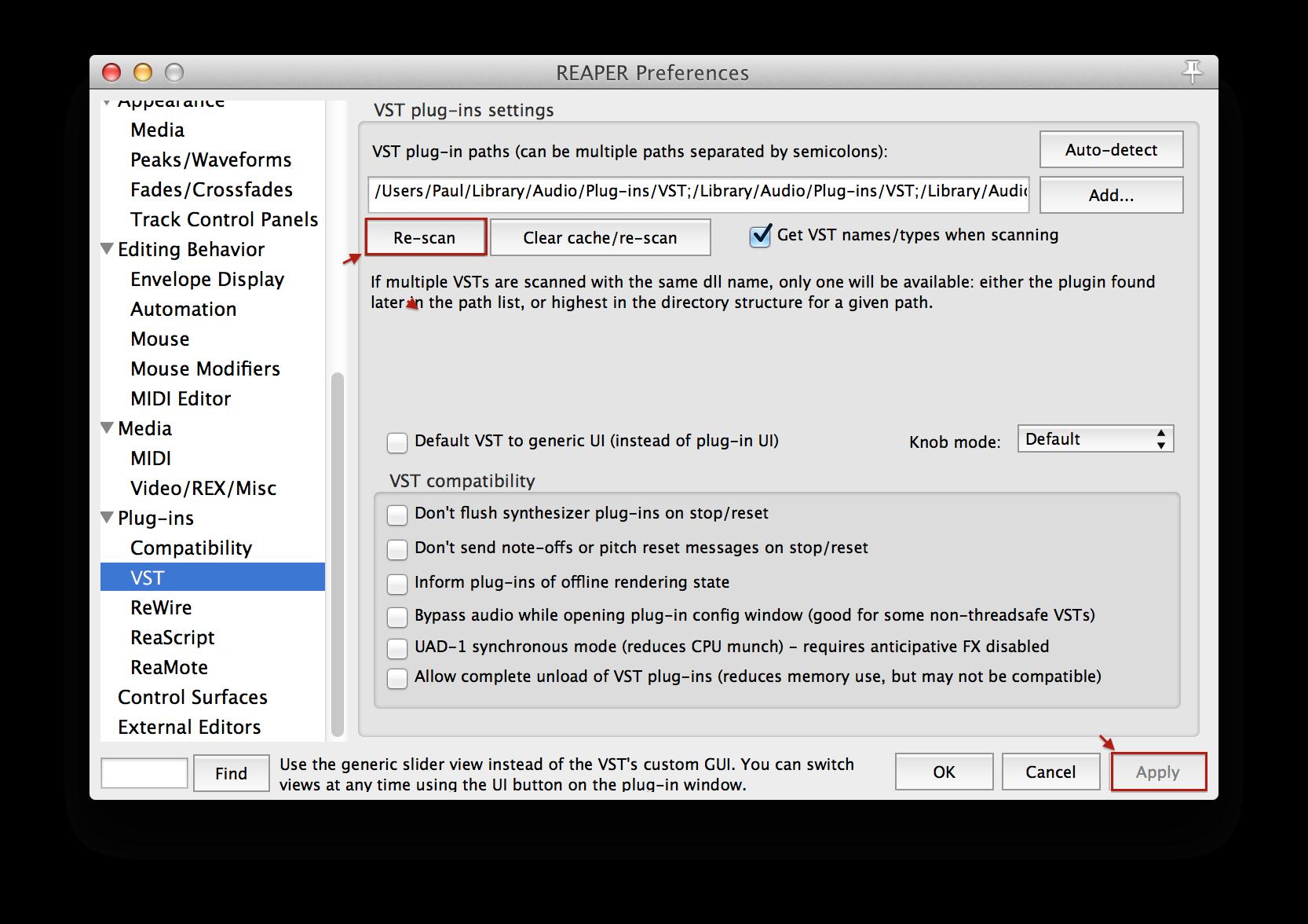 How To Rescan Plugins In Reaper – Slate Digital